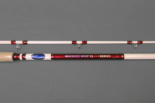 Whisker Whip XL White/Red Rod