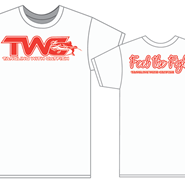 """TWC™/Feel The Fight™"" White/Red T-Shirt"