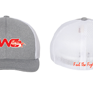 Flex Fit Gray/White/Red Hat