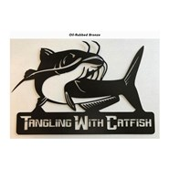 Tangling With Catfish™ Metal Art