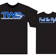 """TWC™/Feel the Fight™"" Black/Blue T-Shirts"